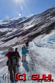 Gletscher Wanderung Norwegen