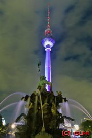 Neptunbrunnen, Fernsehturm, Festival of Lights, Berlin
