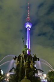 Neptunbrunnen, Fernsehturm, Festival of Lights, Berlin
