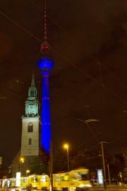 Nikolaikirche, Festival of Lights, Berlin