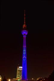 Zoomeffekt, Fernsehturm, Festival of Lights, Berlin