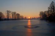 Sonnenaufgang in Neuholland Stausee