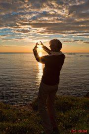 Herz Sonnenuntergang Norwegen
