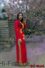 Koreanische Frau, Gärten der Welt