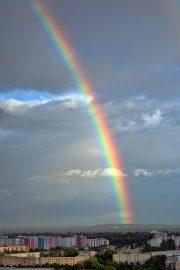 Regenbogen, Gärten der Welt, Berlin, Marzaner Blick